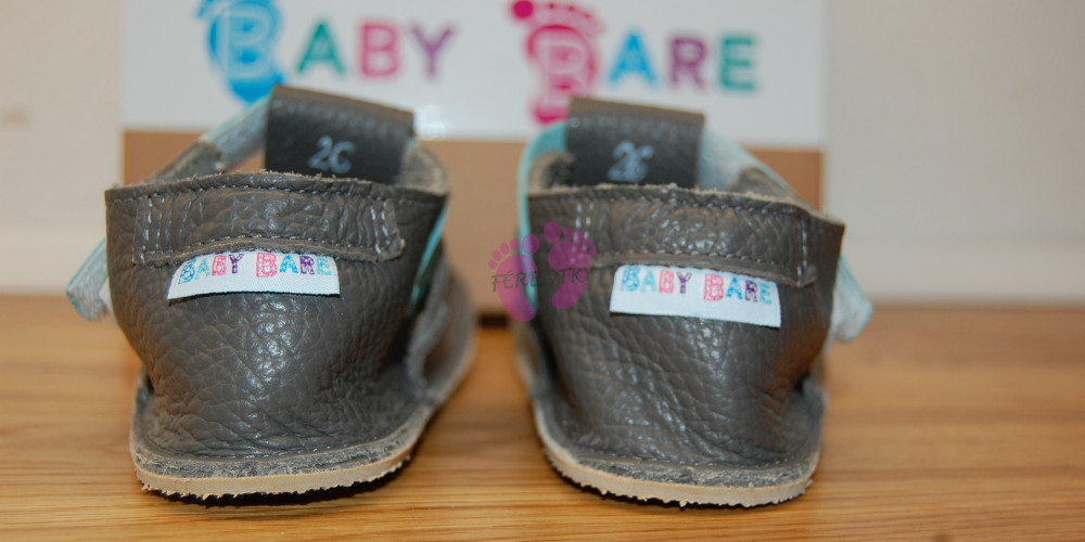 Baby Bare Shoes Blue Beetle Top Stitch opatek