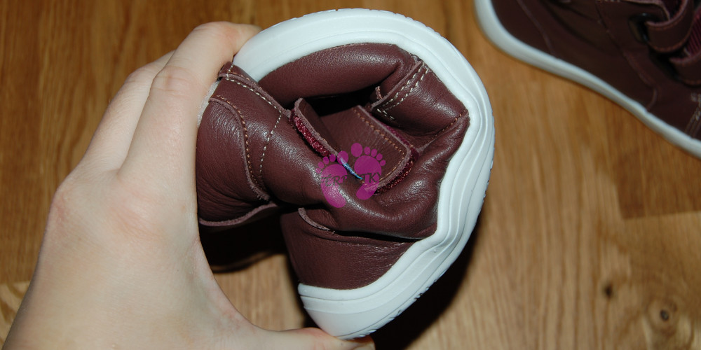 Baby Bare Shoes FEBO WINTER Bordo