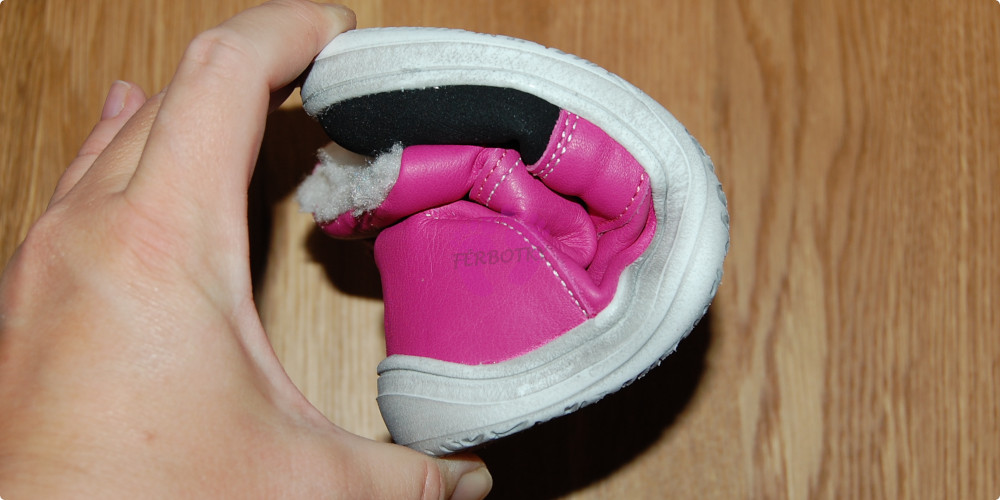 Baby Bare Shoes FEBO WINTER Fuchsia okop, ohebnost
