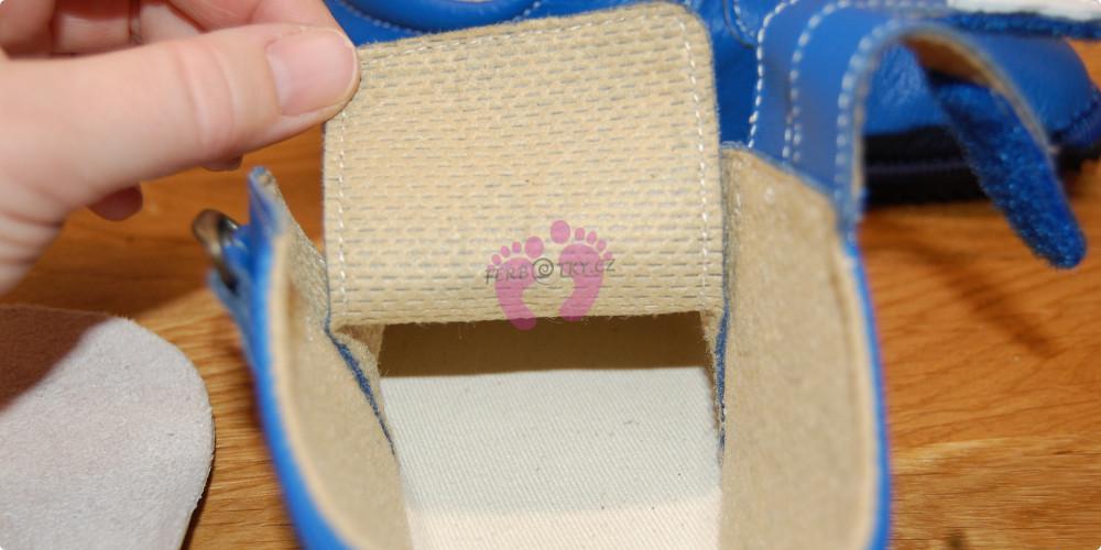 Beda boty barefoot modré kožené vnitřek