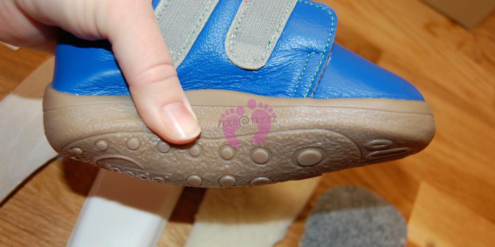 Zimní Beda barefoot modré - ohebnost
