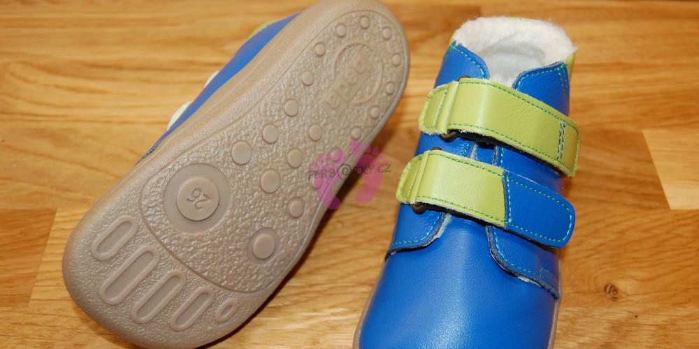 Zimní Beda barefoot modré - podrazka
