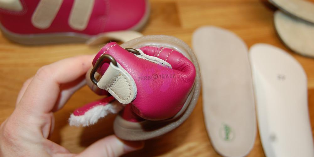 Zimní Beda barefoot růžové - lze stočit do ruličky