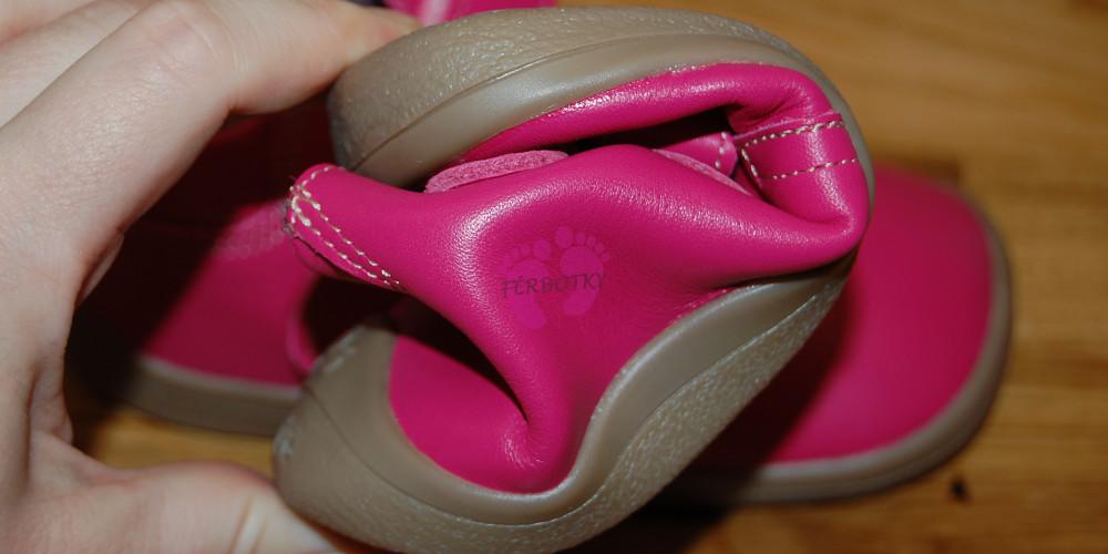 b07294977eb Beda barefoot růžové celoroční Janette s membránou ohebnost