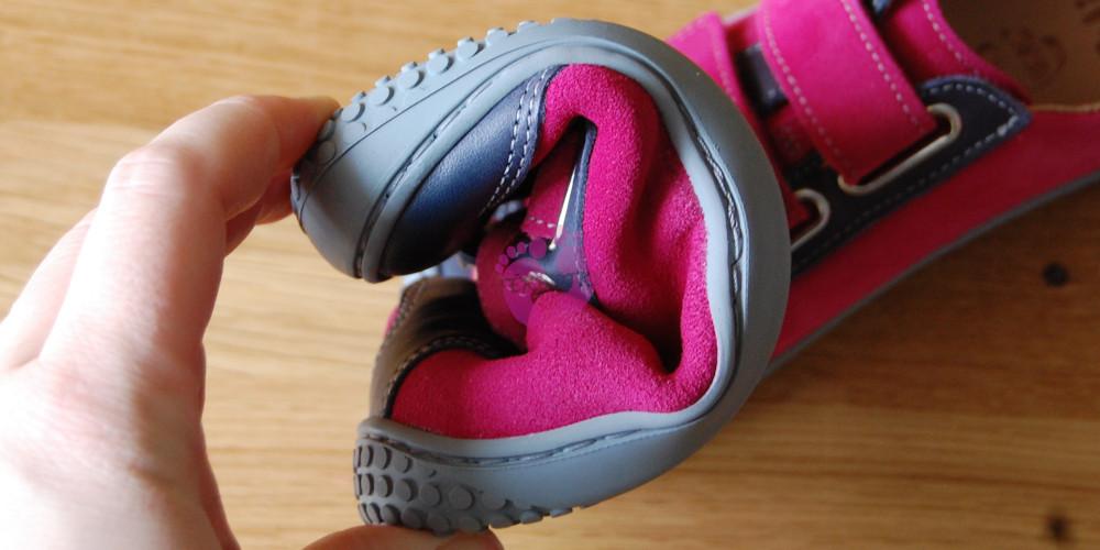 Nízké kožené barefoot Filli Leguan Ocean Pink na nové podrážce ... 08633e40bd8