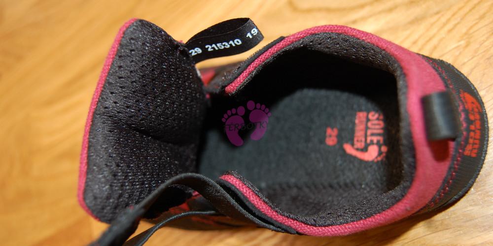 Sole Runner Puck Red/Black vnitřek boty